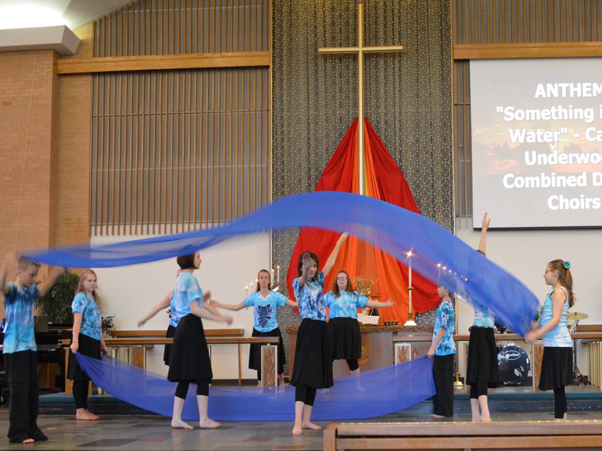 Liturgical Dance for children at Central United Methodist