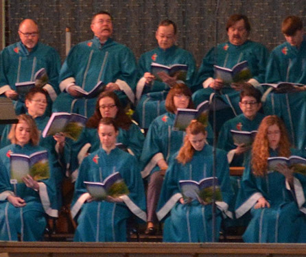 Chancel choir of Waterford Central United Methodist Church