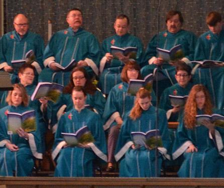 Chancel choir of Waterford Central United Methodist Church