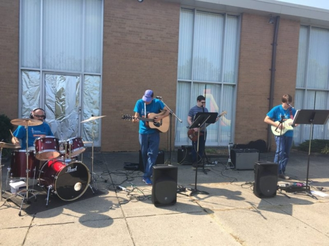Praise band of Central United Methodist Church in Waterford