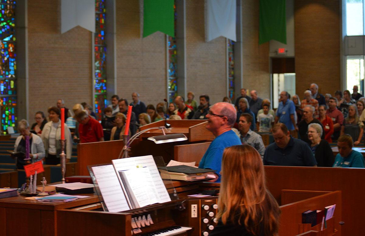 Central United Methodist Church hymn sign
