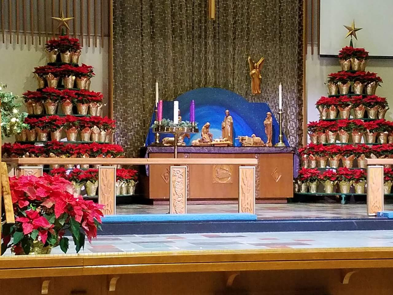 Nativity Sanctuary Decorations at Christmas Time