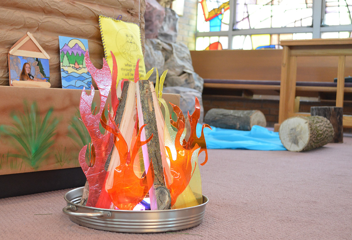 Campfire Decoration for VBS 2018